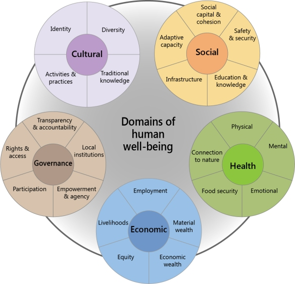 Figure 2 - Domains of human well-being for social impact assessments
